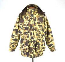 Vtg Bass Pro Shop Gore Tex Parka WWII Duck Camo Jacket Coat Hood Hunting Mens L