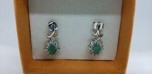 Natural Emerald & Diamond earrings