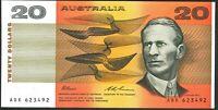 Australia Rarer Last Prefix $20 ADK 623492 + Centenary Ovpt Banknote issue r415L