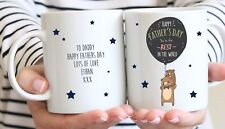 Personalised Bear Father's Day Mug - Best Daddy / Dad - Star / Balloon / Gift