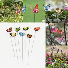 24pcs Jardin Patio Décoration Ornements Papillon Colorés Pot Fleurs Maison Neuf