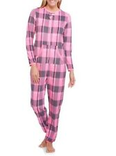 Secret Treasures Pink Plaid No Footed Pajama One Piece Union XL 2X or 3X LASTONE