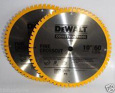 "Dewalt DW3106P5D60I 10"" 60T Fine Finish Saw Blade 2 Blades"