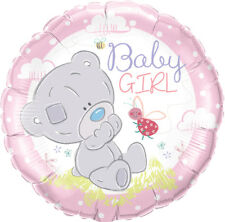 "BABY GIRL BALLOON 18"" NEW BABY GIRL TINY TATTY TEDDY QUALATEX FOIL BALLOON"