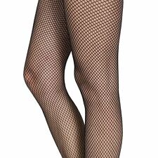 da donna Nero Collant sexy a rete calze motivo Taglia unica