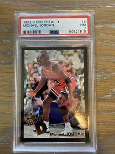 1992 Fleer Michael Jordan Total D PSA 7