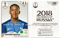 "RARE !! Anthony MARTIAL Sticker ""WORLD CUP - RUSSIA 2018"" Panini"