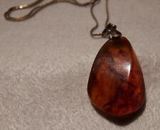 Vintage Russian Amber Pendant ~  Marked ~ Lovely