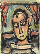 """Original Litho """"Tete de Jeune Fille"""" Rouault–Derain 1939 Verve (Vol. 2, No. 5-6)"""