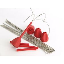 Gemini System 100+ Springy Fixed Grip Heads - RED (4 Pack)