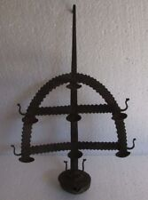 Vintage Old Rare Iron Handcrafted Primitive Tribal Wall Hanging Oil Light Lamp