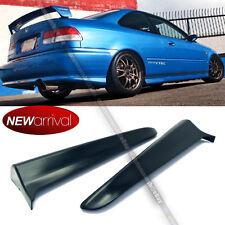 Fit 99 00 2DR EK Civic M Style Rear Bumper Lip Kit Spats Cap Valences Apron