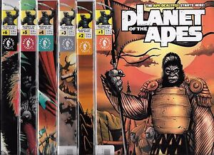 PLANET OF THE APES #1-#6 SET BOTH ART & PHOTO COVER SETS (NM-) DARK HORSE