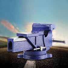 "5"" Bench Vise w/ Anvil Swivel Locking Base Tabletop Clamp Heavy Duty Steel NEW"