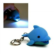 LED DOLPHIN KEYCHAIN with Light and Sound Cute Toy Animal Noise Key Chain Ring