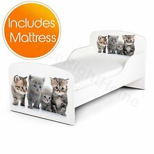 PRICE RIGHT HOME KITTENS TODDLER BED PLUS FULLY SPRUNG MATTRESS FREE P+P NEW