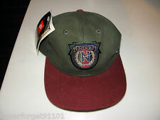 Nike Vintage Green Burgundy Baseball Fitted Hat Cap Size Medium Large  RARE M/L