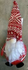 """Red 14"""" Holiday Christmas Gnome"""