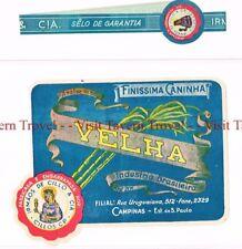 Unused 1940s BRASIL Sao Paulo Irmaos De Cillo Velha Finissma Caninha Label