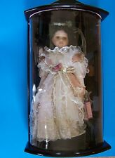 """16"""" Molly Porcelain Doll / Wooden Display Case New"""