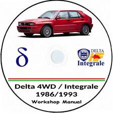 Lancia Delta Integrale,workshop manual:Delta EVO e 4WD