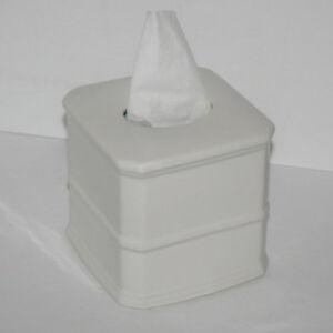 Ivory Pottery Barn Tissue Box Cover, Handmade Porcelain, Retired Piece