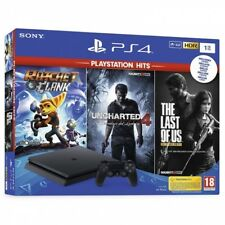 Sony PlayStation 4 Slim 1TB Ratchet And Clank + Uncharted 4 + The Last Of Us Consola - Negra