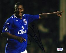 Yakubu Aiyegbeni SIGNED 8x10 Photo Nigeria *VERY RARE* PSA/DNA AUTOGRAPHED