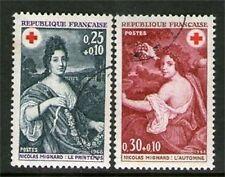 SERIE TIMBRES 1580-1581 OBLITERES - TOILES DE NICOLAS MIGNARD