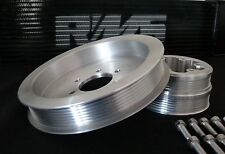 BMW E46 M3 S54 RMS ALUMINUM SUPERCHARGER CRANK PULLEY KIT 8RIB X 6INCH