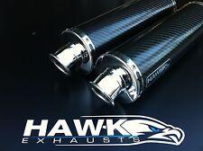 Hawk Kawasaki ZZR 400 600 Carbon Runder Auspuff Rl