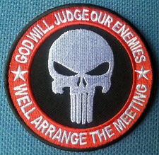 INFIDEL JUDGE ENEMY PUNISHER EMROIDERED 3.5 INCH PATCH