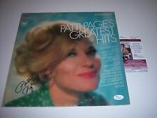 PATTI PAGE GREATEST HITS JSA/COA SIGNED LP RECORD ALBUM