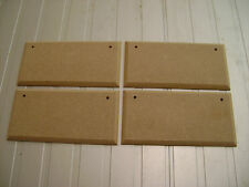 """4X  8"""" x 3"""" HAND CRAFTED MDF WOODEN RECTANGLES SHAPE PLAQUE BLANKS WITH HOLES"""
