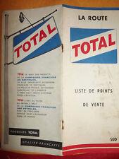 Liste des points de vente TOTAL 1962
