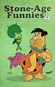 ADRIAN ROPP rare FRED FLINSTONE art print HB 11x17 SIGNED Last TWO Cover Mock Up
