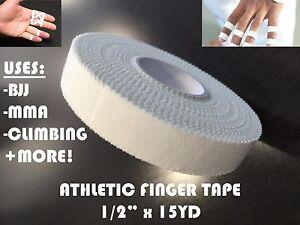 """BJJ Jiu Jitsu/MMA/Climbers Athletic Finger Tape Sports Wrap - 1/2"""" x 15YD"""