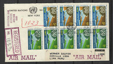 Nations Unies New-York Peru Lima 9 timbres sur lettre tampon date 1964/B5N-U21
