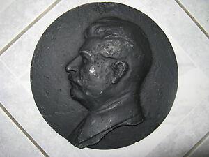 CCCP authentique bas-relief de STALINE Soviétique URSS 1940-50