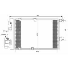 Kondensator Klimaanlage - NRF 35301