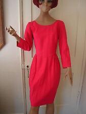 Designer genuine true Vintage pink, tailored dress by Marie Lister Size 8 1980s