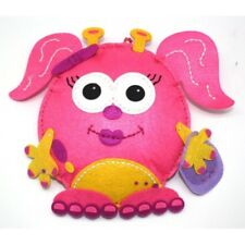 DOCRAFTS CRAFT PLANET SPARKLES PINK FELT MONSTER TOY SEWING KIT KIDS AGES 6+