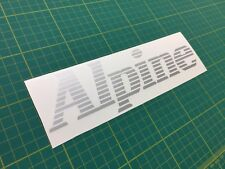 Renault Alpine GT GTA V6 Turbo Tailgate Decal Sticker Graphic Restoration