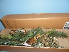 Home Interiors holiday Christmas glitter floral picks with nests & eggs set of 2