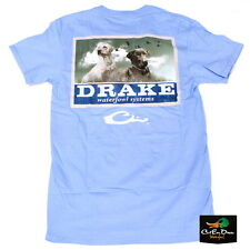 NEW DRAKE WATERFOWL SOUTHERN COLLECTION BLACK AND YELLOW LAB T-SHIRT BLUE XL