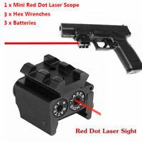 Mini Red Dot Laser sight 20mm picatinny Rail For Rifle handGun shooting Hunting