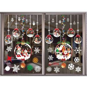 Christmas Xmas Santa Removable Decals Wall Home Shop Decor Window Stickers Art
