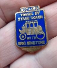 BUTLIN'S 1950s ERIC WINSTONE STAGE COACH Blue  vintage Enamel