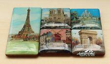 Mini 5 Stück Set, Frankreich Paris Reiseandenken 3D Doming Kühlschrankmagnet