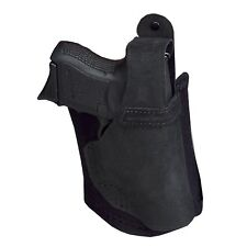 """Galco Ankle Lite Ankle Holster for Smith & Wesson J-Frame 2"""", RH, Black Leather"""